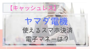 【キャッシュレス】ヤマダ電機で使えるスマホ決済・電子マネーは?