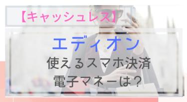 【キャッシュレス】エディオンで使えるスマホ決済・電子マネーは?