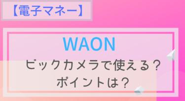 【電子マネー】WAONはビックカメラでも使える?ポイントは?チャージは?