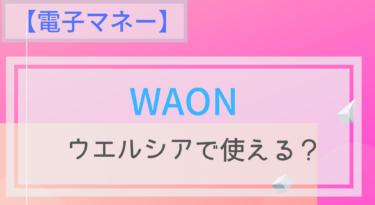 【電子マネー】WAONはウエルシアで使える?ポイントは?チャージは?